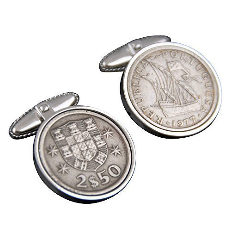 Portugal Cufflinks- Genuine Portuguese Escudos Coins-100% Satisfaction Warranty