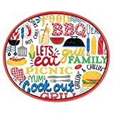 Amscan 721951 Party Supplies BBQ Picnic Oval Paper