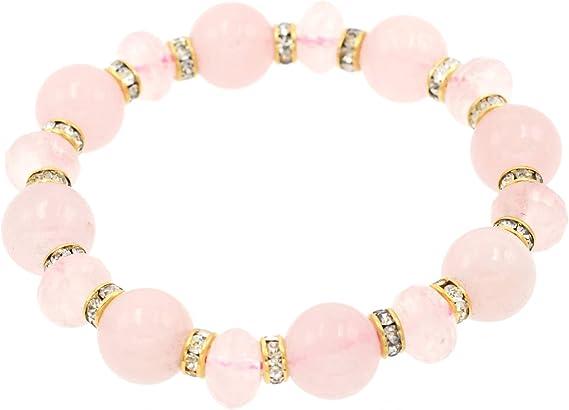 "Natural 10mm Faceted Red Garnet Round Beads Bracelet 7.5/"""