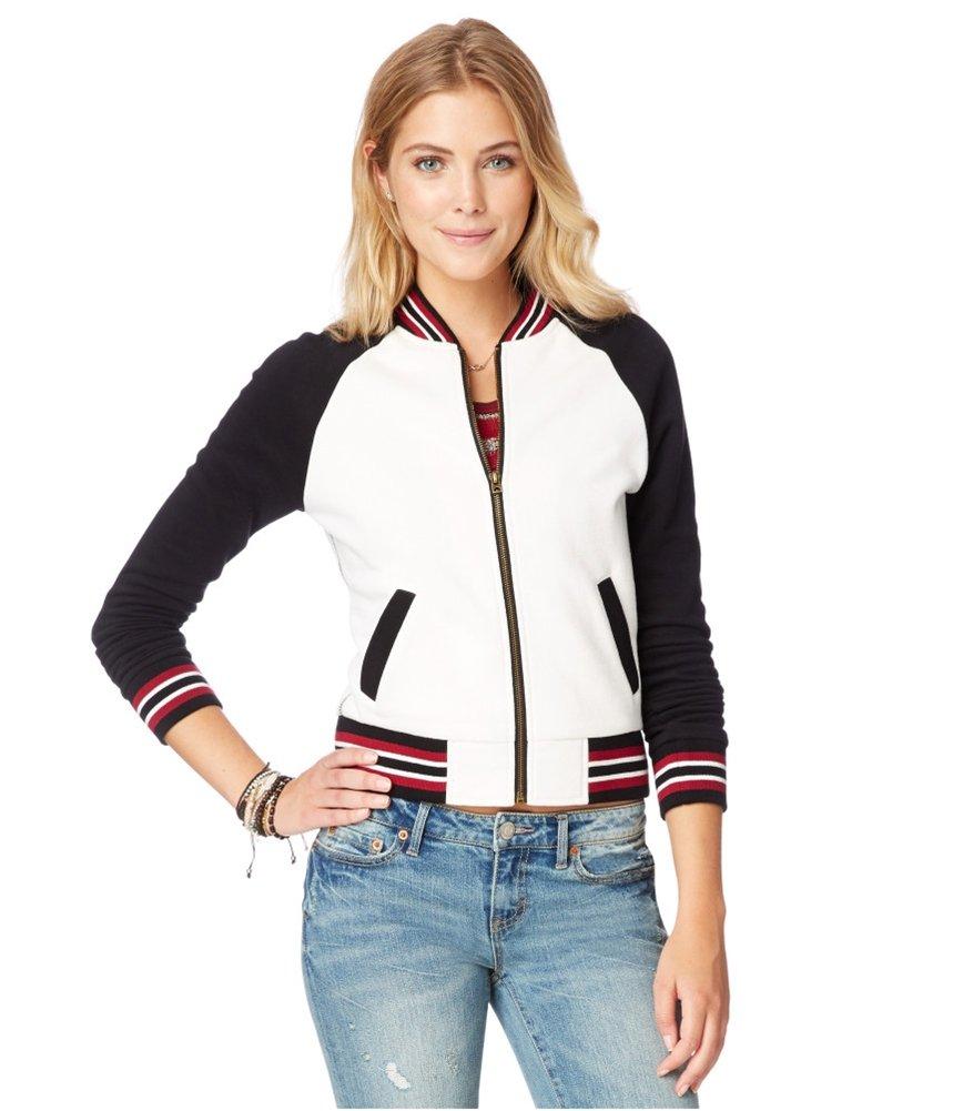 Aeropostale Womens Varsity Fleece Sweatshirt 047 XL