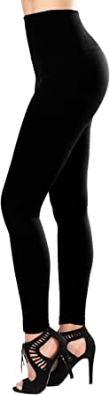SATINA Women's Fleece Lined Leggings High Waist CompressionTights