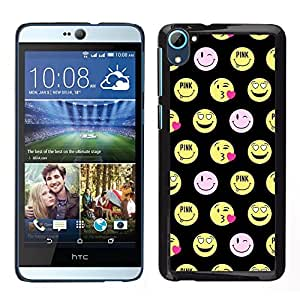 Impact Case Cover with Art Pattern Designs FOR HTC Desire D826 Happy Smiley Face Funny Emoticon Betty shop