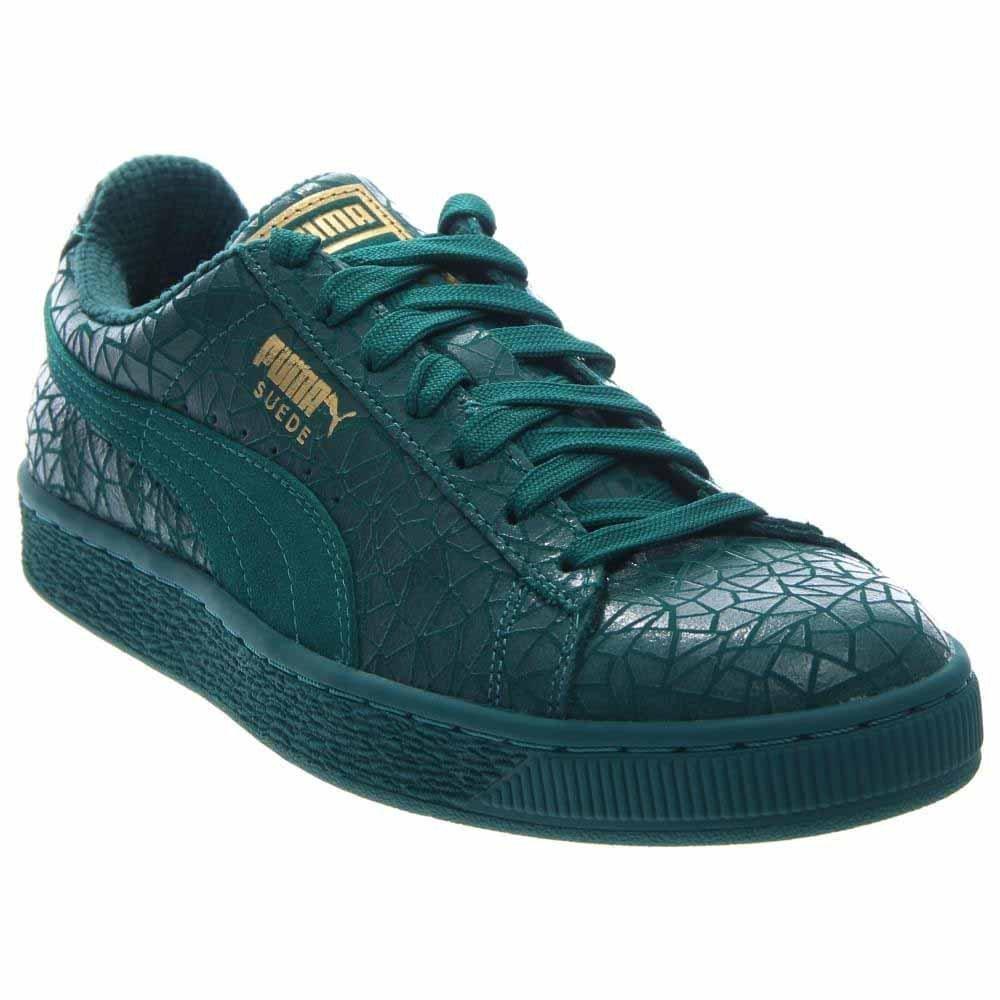 PUMA Suede Crackle Men US 12 Green Sneakers