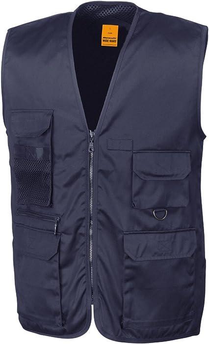 Result R45X Work-Guard Safari Waistcoat Mens Gilet Tool Vest Jacket Size S-2XL