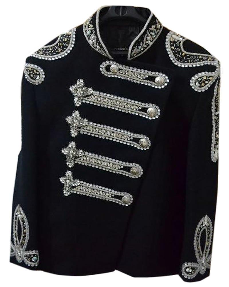 Classyak Women Balmain Military Style Wedding Jacket Suit (M)