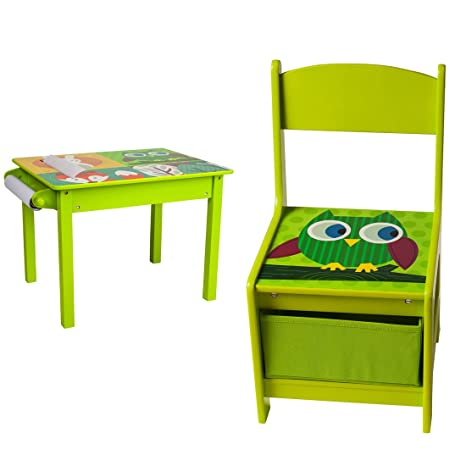 Astounding U Grow Toddler Wood Table And Chair Set Green Alphanode Cool Chair Designs And Ideas Alphanodeonline