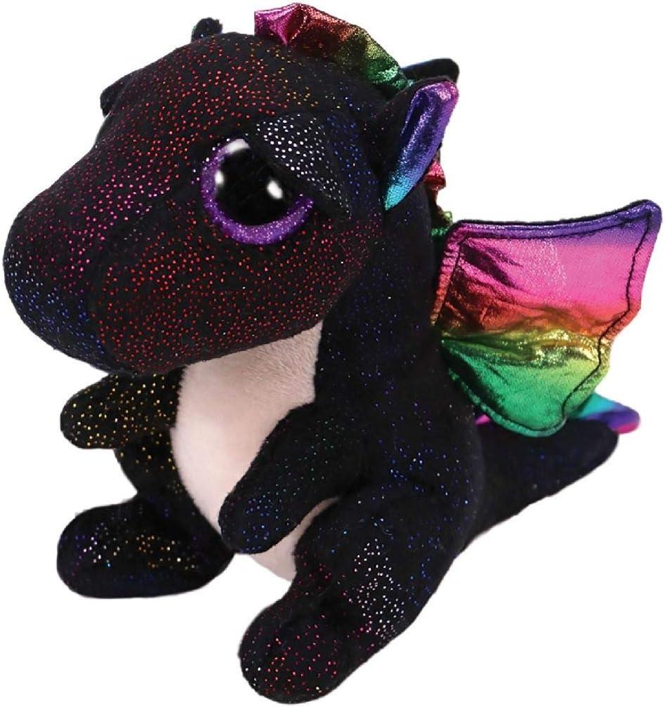 TY- Anora, Drache Schwarz 24cm Peluche dragón, Color negro (United Labels Ibérica 37268TY) , color/modelo surtido