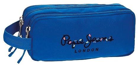 Estuche Pepe Jeans Harlow Azul tre compartimento: Amazon.es ...