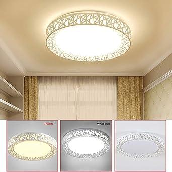 WSYYWD Lámpara de techo LED, lámpara redonda de nido de pájaro ...