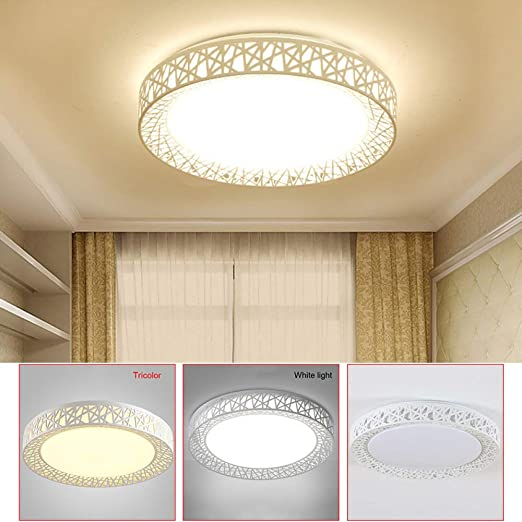 runde Bad Decken Leuchten Design LED Flur Wohn Schlaf Zimmer Beleuchtung Gold