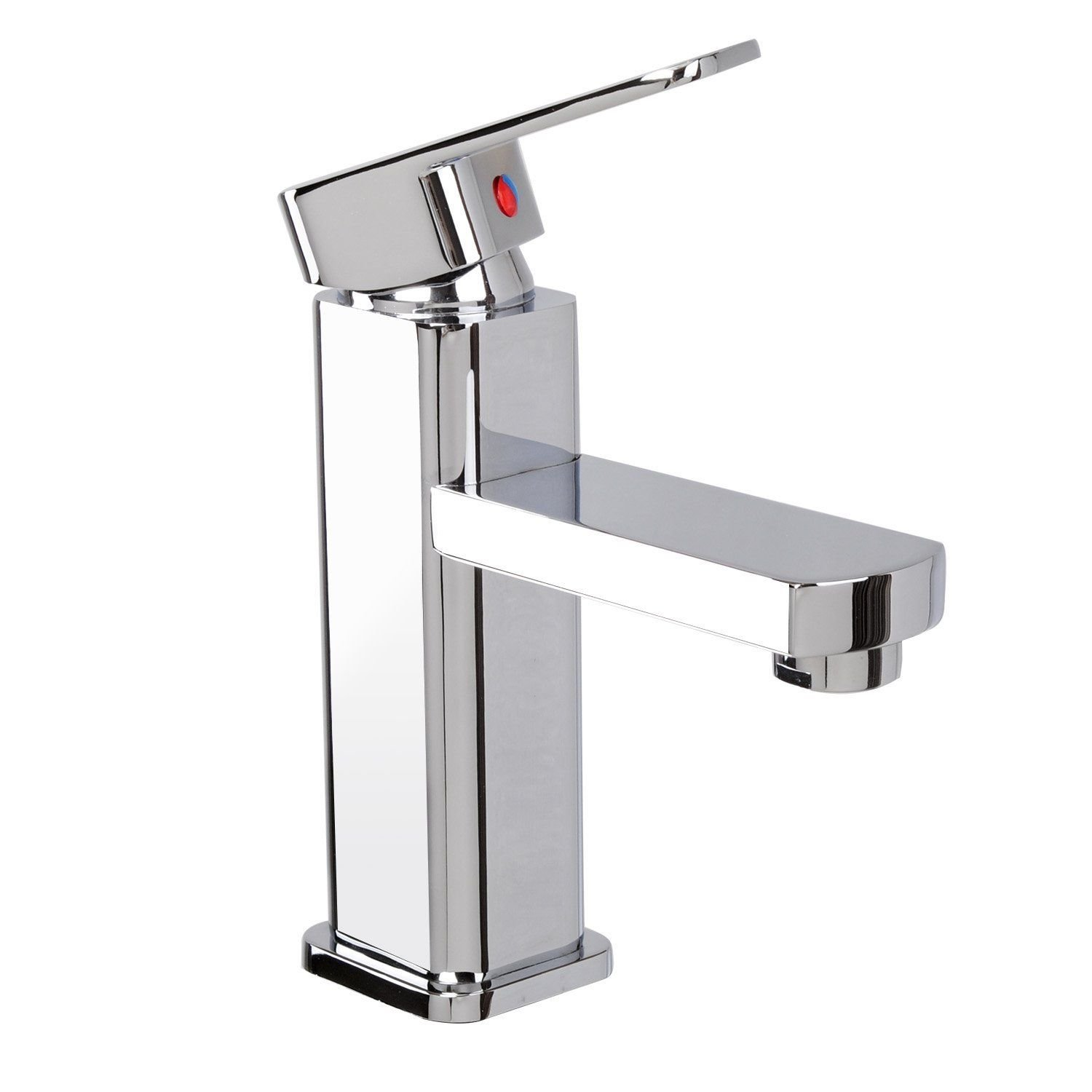 60%OFF NEW SQUARE! Bathroom Sink Faucet Basin Mixer Tap Chrome Brass Single-handle 1 Hole #238