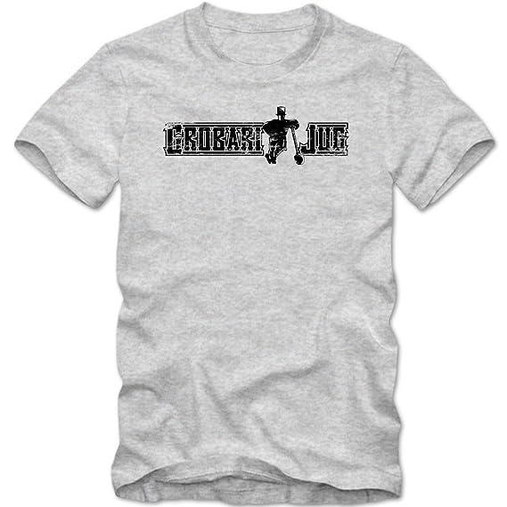 grobari Jug - Camiseta 01 | Vintage | Partizan | Serbia | Fútbol | Serbia | Belgrad | Beograd graumeliert (grey melange) 01 XL: Amazon.es: Ropa y accesorios