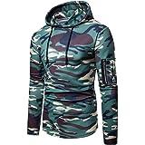 2901afda8a0fd Vetement Homme Vtops Sweatshirts pour Hommes Zip Casual Slim Fit Pull  Camouflage Blouse Top HoodiesPas Cher