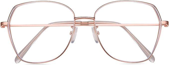 silver Gafas con Filtro de luz Azul bloqueo de luz azul Evita la Fatiga Ocular para Hombre y Mujer SaNgaiMEi Gafas para Ordenador Anti luz Azul