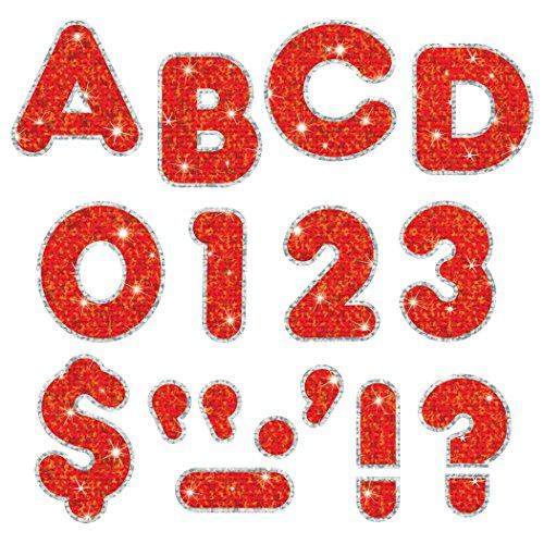 """TREND enterprises, Inc. Red Sparkle Plus 2"""" Casual UC Ready Letters -  T-79622"""