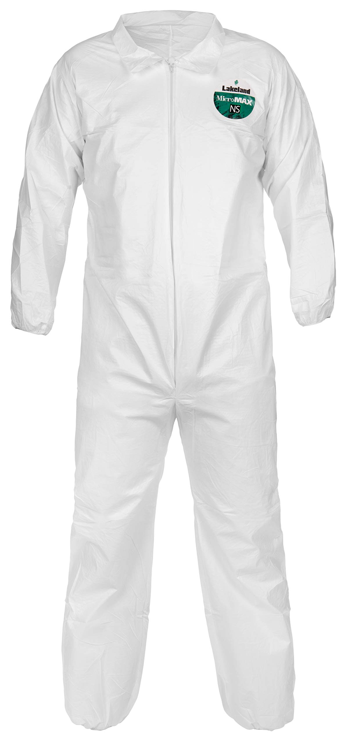 Lakeland MicroMax NS Microporous General Purpose Coverall, Elastic Cuff, 3X-Large, White (Case of 25) by Lakeland Industries Inc (Image #1)