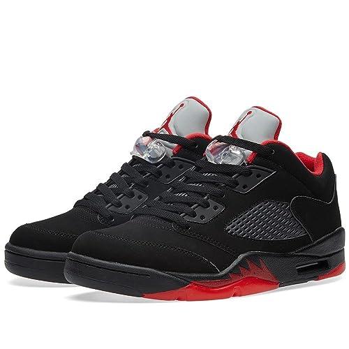 fef4bd268e14 Nike Jordan Men s Air Jordan 5 Retro Low Basketball Shoe BLACK GYM RED-BLACK -MTLC HMTT 7 D(M) US  Buy Online at Low Prices in India - Amazon.in