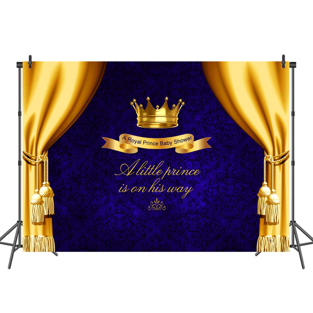 Mehofoto Blue Baby Shower Backdrop Yellow Curtain Photo Background for Little  Prince Newborn Baby Children 7x5 Professional Customized Photography  Backdrops ... 2ba1e0b8f