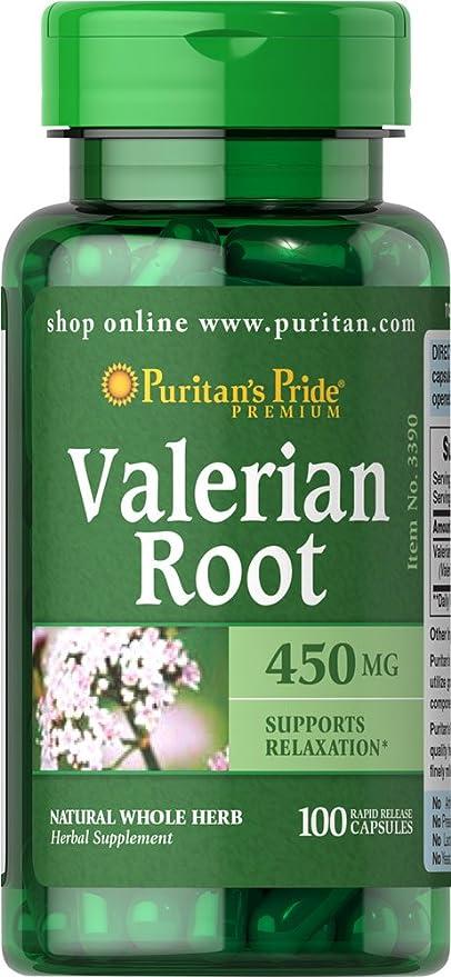 VALERIANA - VALERIAN ROOT 450 MG 100 cápsulas. (Pack 2u.)
