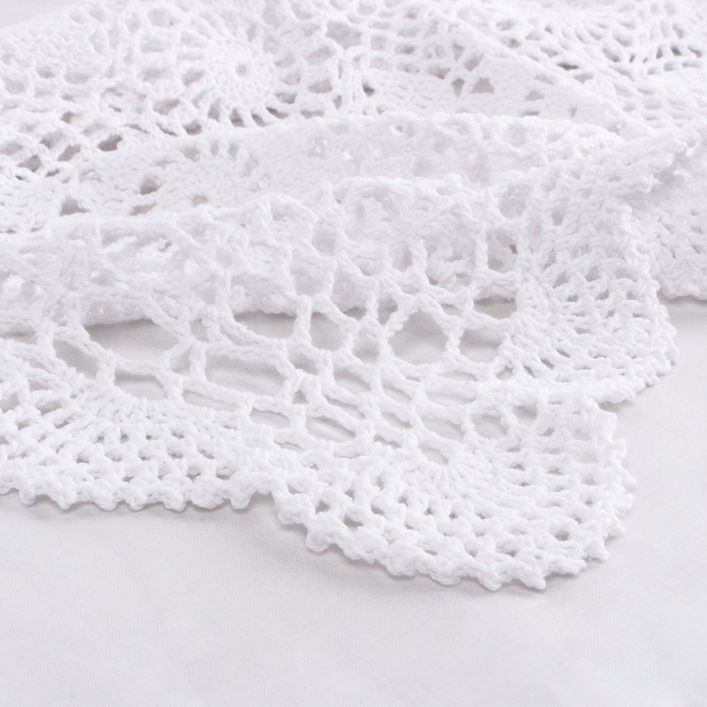 Yazi blanco mesa manteles individuales hecho a mano para decoración de hogar sala de estar hueca de ganchillo encaje de algodón sofá blondas toalla 40 x 60 ...
