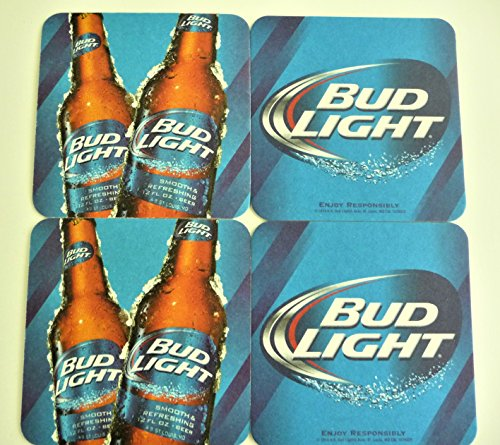 Bud Light Beer Coaster Set of (8) Eight - Two Sided