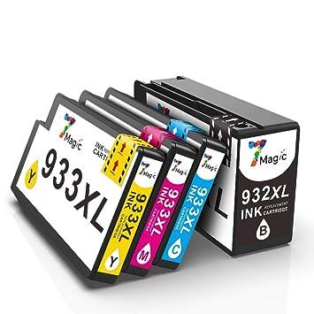 932XL 933XL 7Magic Cartuchos de Tinta, Compatible HP 932/3XL ...