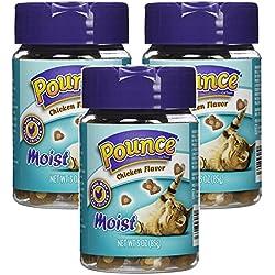 Pounce Moist Chicken Flavor Cat Treats 3.oz (3 Pack)