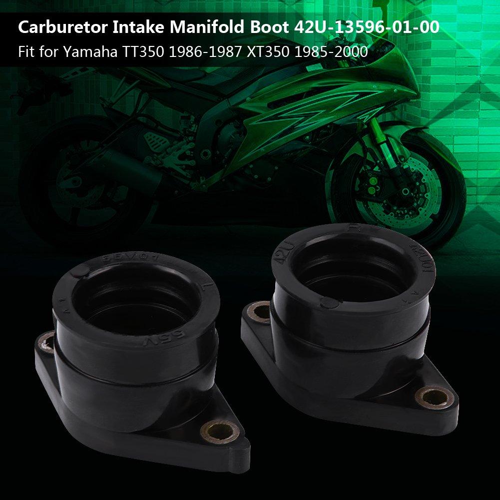 2Pcs Carburetor Carb Intake Manifold Boot for Yamaha TT350 1986-1987 XT350 1985-2000