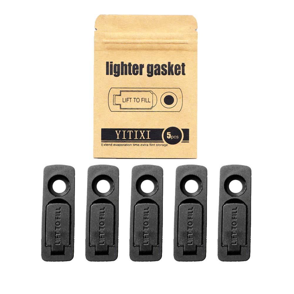 YITIXI 5PCS Lighter No Evaporation Gasket … (Black)