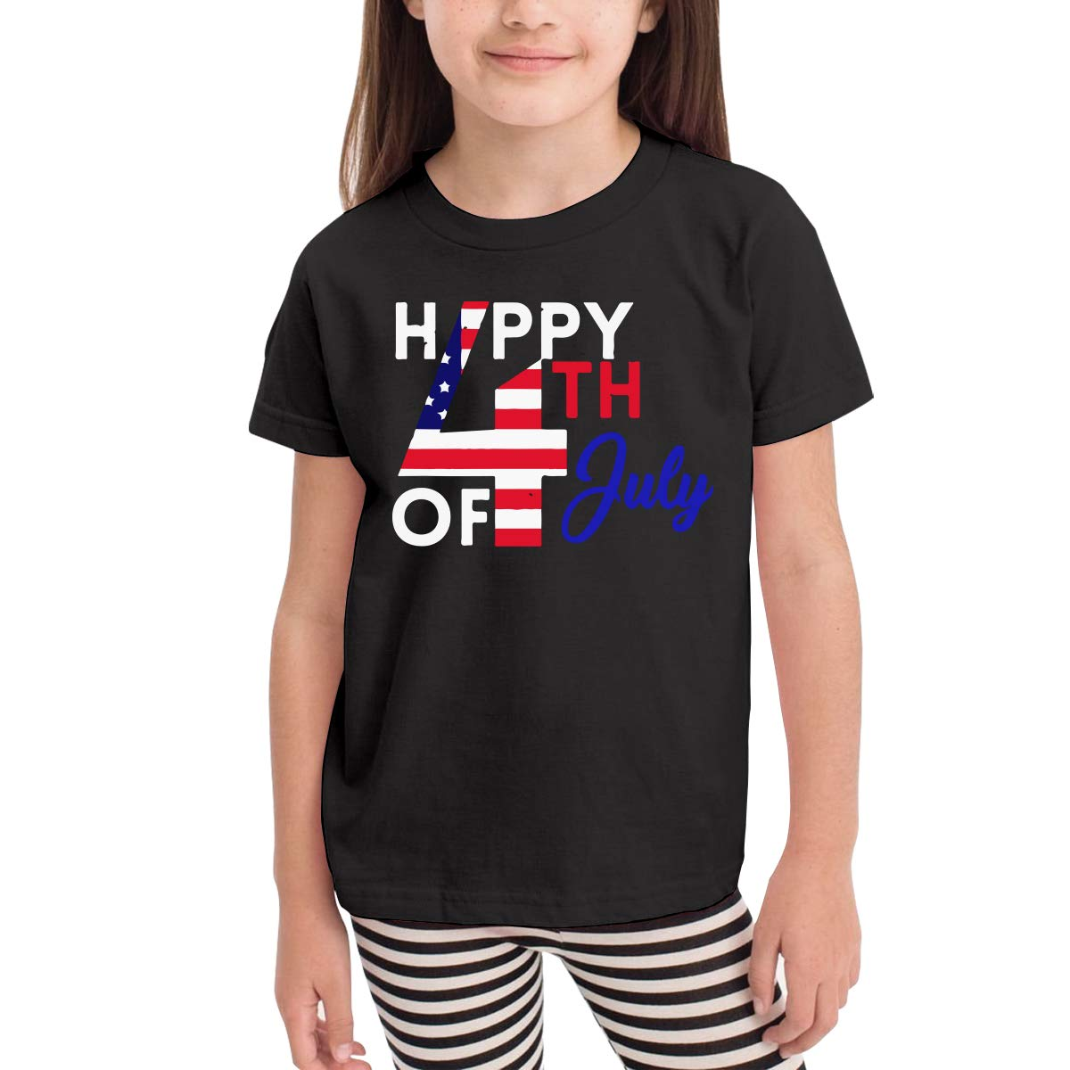 CERTONGCXTS Baby Boys Kids Happy 4th July Independence Day Soft Short Sleeve T-Shirt Size 2-6