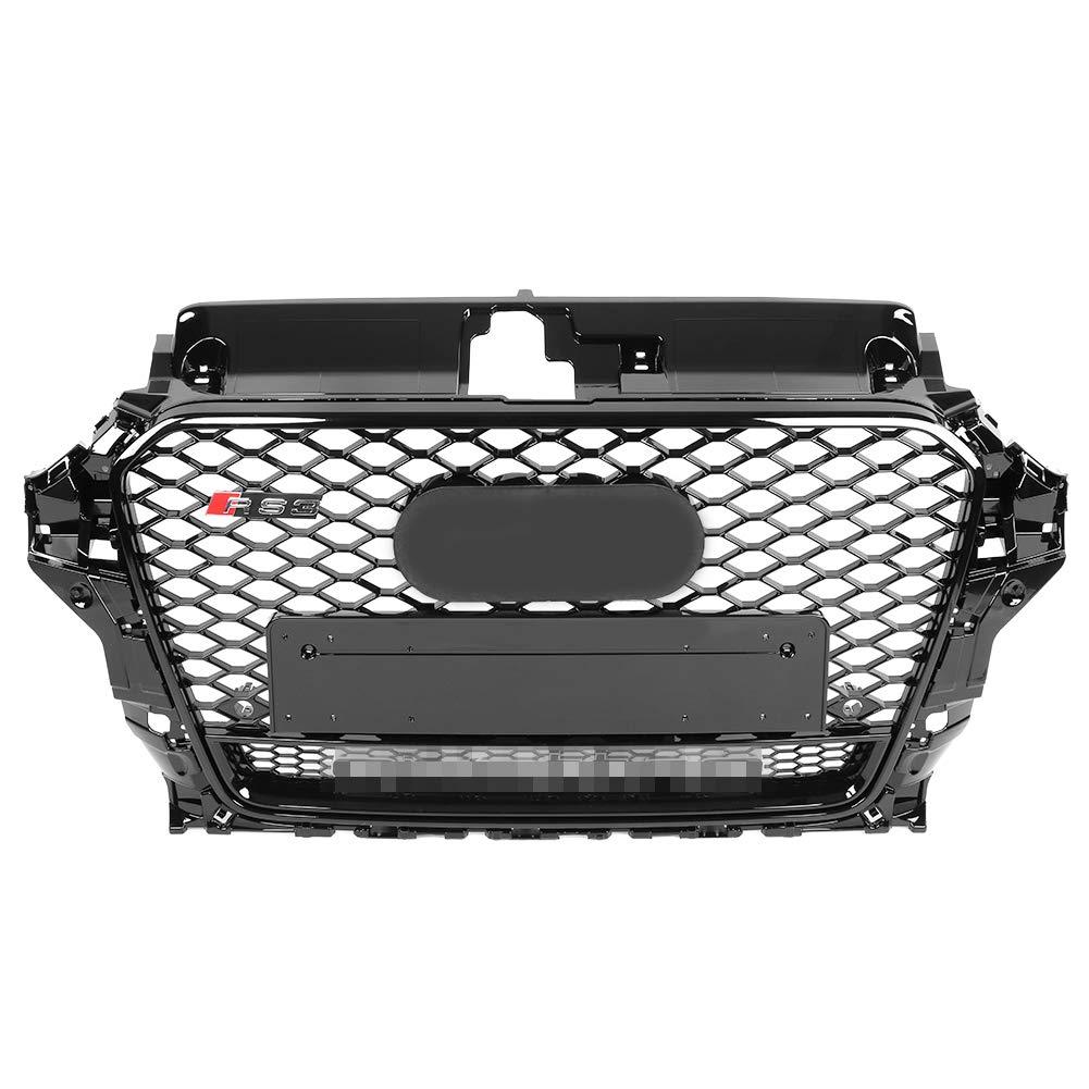 Kit de rejilla de parachoques para A3 KIMISS ABS Rejilla de Cubierta de parachoques delantero S3 8V