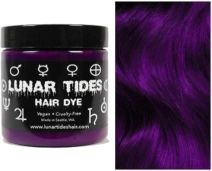 Plum Purple, tinte para el cabello semi permanente púrpura - 118 ml - Lunar Tides
