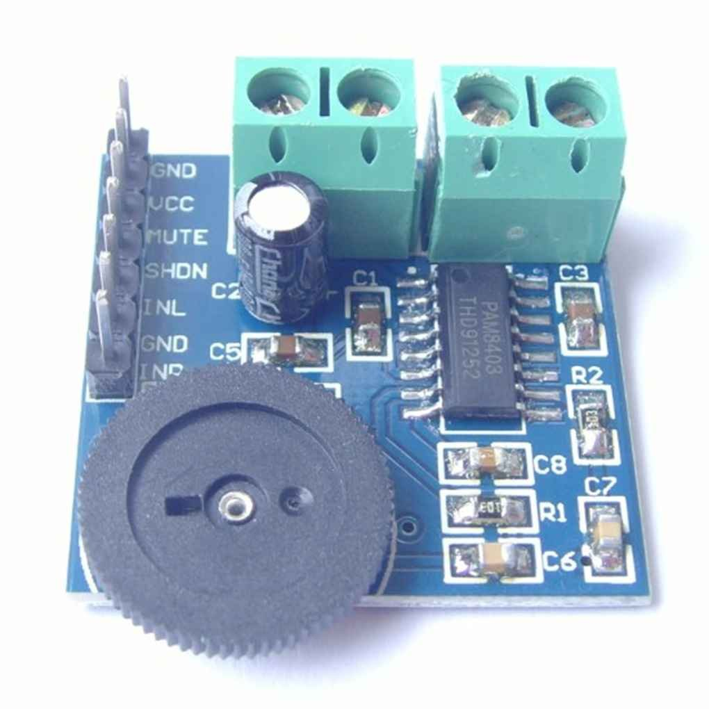 Busirde PAM8403 2 Canales M/ódulo de amplificaci/ón de Potencia de Audio est/éreo Dual 2x3W Voz Suena Amplificador Tablero del m/ódulo 5V
