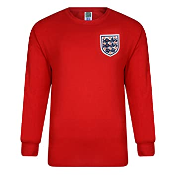 Score Draw Official Retro – Camiseta de Inglaterra 1966 World Final de la Copa de distancia