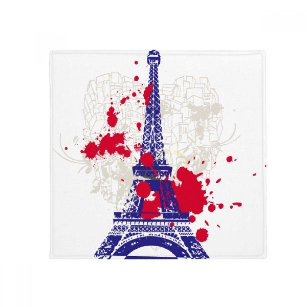 DIYthinker Eiffel Tower Silhouette France Paris Anti-Slip Floor Pet Mat Square Home Kitchen Door 80Cm Gift