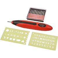 Amtech V2545Graveur type stylo avec accessoires Rouge 3V