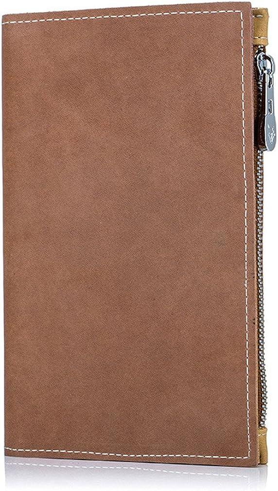 Mutifunction Money Clip Genuine Leather Passport Ticket Wallet Zipper Change Pocket Papers Note Bag