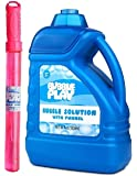 BubblePlay 1 Pack 64-Ounce Bubble Solution - Free Big Bubble Wand & Easy Pour Bottle for Fun Bubble Machines, Refills…