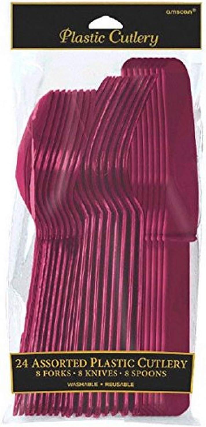 Purple Party Premium Plastic Spoons x 24