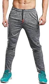 Chándal Hombre Pantalones Deportivos Casuales Largos de ...