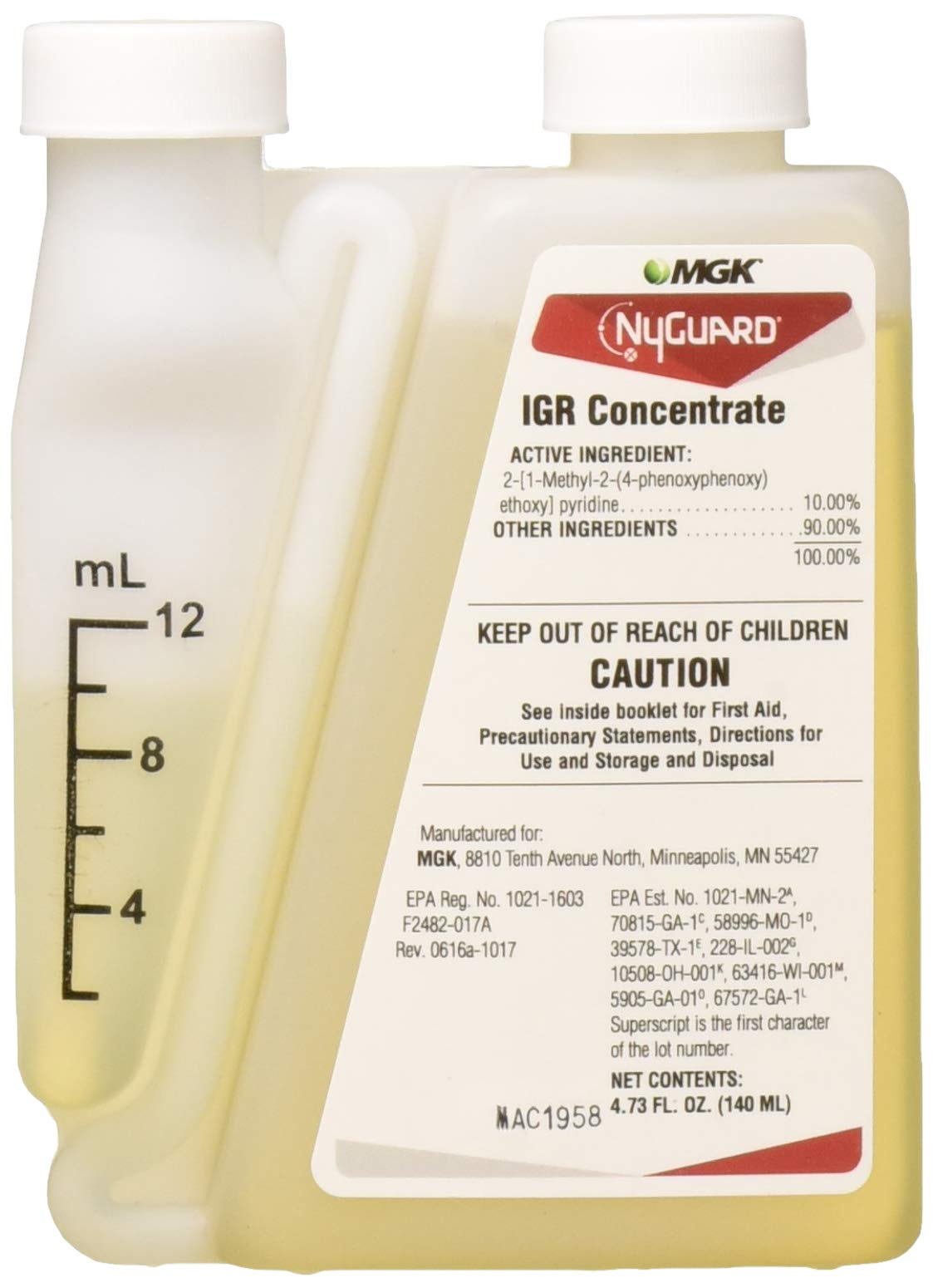 MGK 802958 NyGuard IGR Concentrate Insecticide, 4.73oz, Clear by MGK