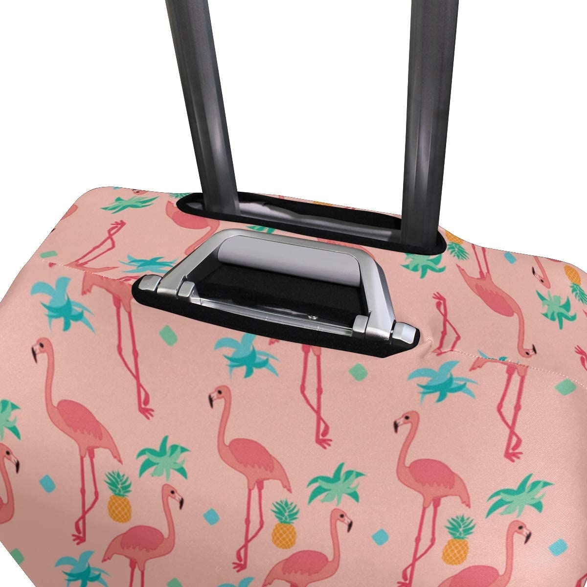 MALPLENA Flamingo With Garland Wallpaper Luggage Protector Suitcase Cover