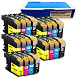 Inkjetcorner 20 Pack Compatible Ink Cartridges Combo + Chip for Brother LC203 LC203XL BLC203 MFC-J460DW MFC-J480DW MFC-J485DW MFC-J680DW MFC-J880DW MFC-J885DW