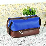 Leather Toiletry Bag Travel For Men Dopp Kit. The Ultimate Gift and Travel Accessory.Bathroom Cosmetic Pouch Case