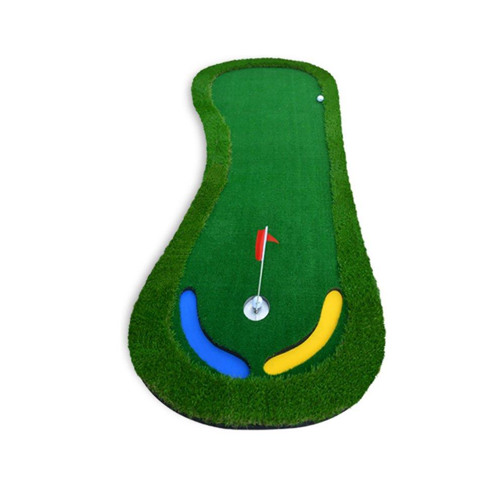 屋内ゴルフエクササイズブランケットオフィスのパットプラクティスマット   B07FNJGY8K