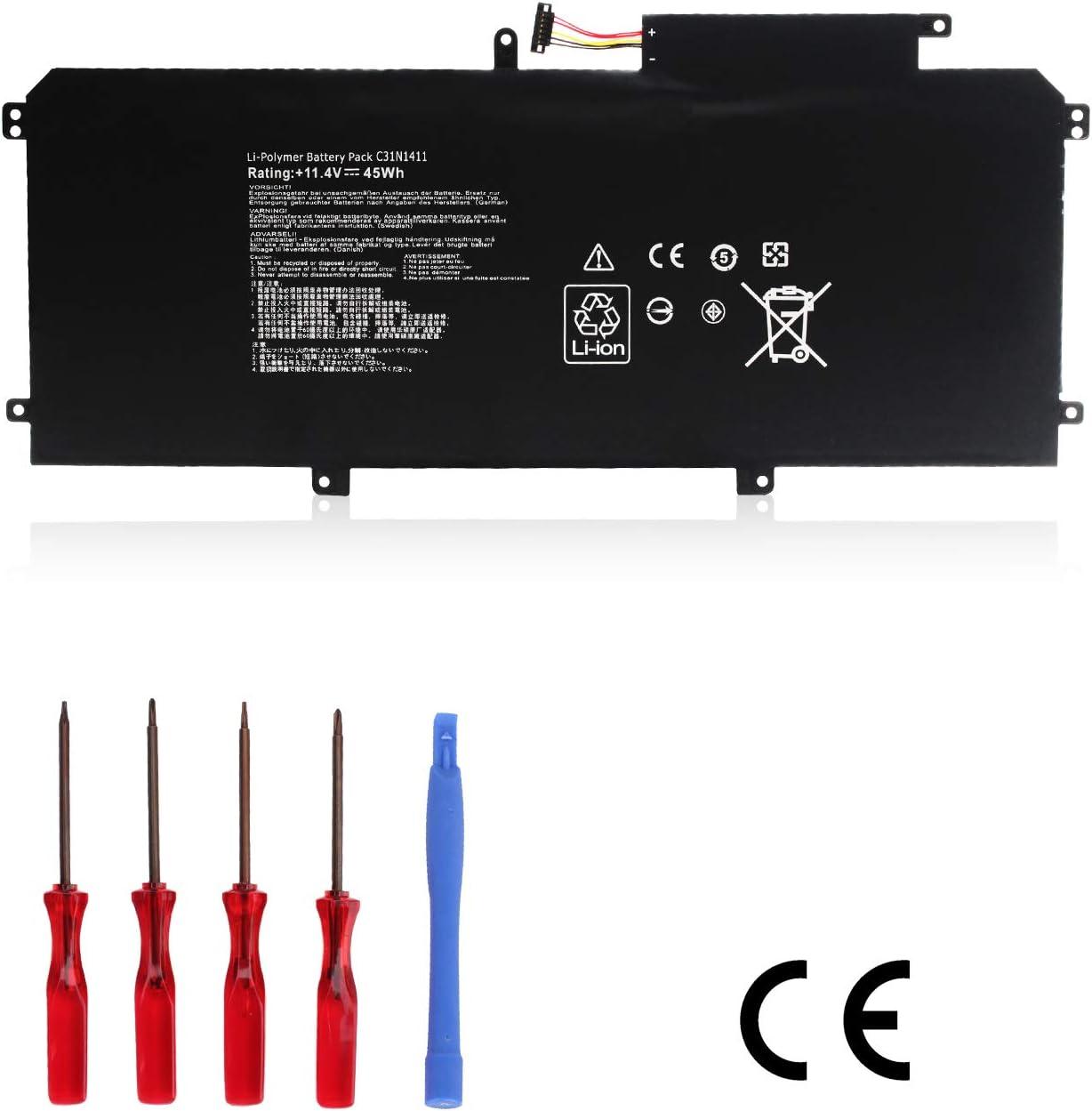 Ouside C31N1411 (45Wh) Laptop Battery Compatible ASUS ZenBook UX305 UX305CA UX305F UX305FA UX305FA-USM1 U305 U305F U305FA U305FA5Y10 U305UA Series