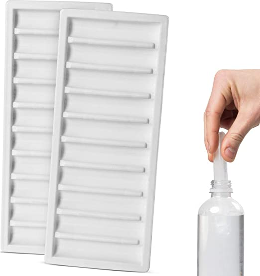 Pack de 2 Botella Hielo Stick Bandejas Congelador Molde 20 Tubos ...