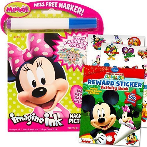 Disney Minnie Mouse Pictures (Disney Minnie Mouse Imagine Ink Book Super Set (Includes Over 100 Stickers and Mess-Free Marker))