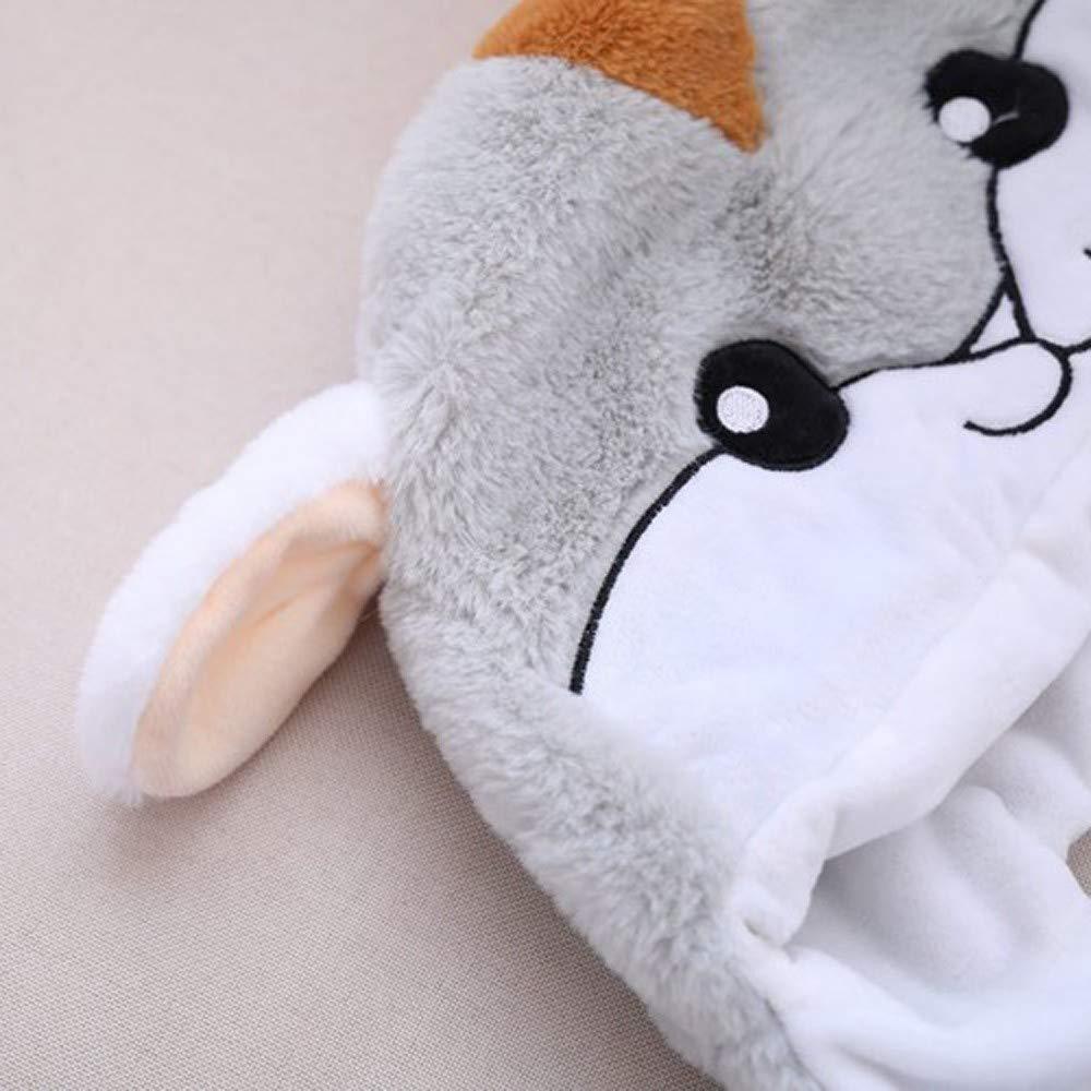 Trisee Unisex Hat kuschelig Pl/üsch Lustiger niedlicher Tierohr Hut mit Bewegen Sie die Pop Up Airbag-Magnetkappe Mode Umzug Cap Bequem Weich Headwear Outdoor Motorhaube