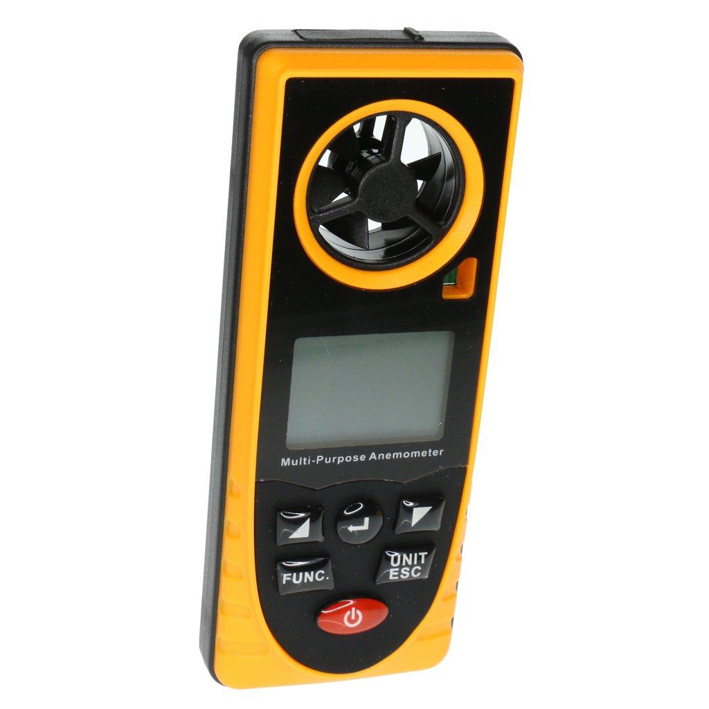 MagiDeal Thermomètre De Mesure De Vitesse De Vent Tenu Dans La Main D'anémomètre De Digital De GM8910 LCD